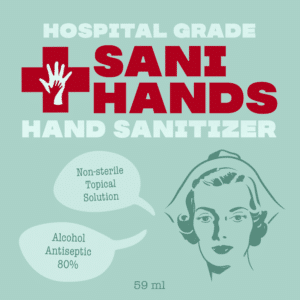 Hand Sanitizer Label Sani Hands