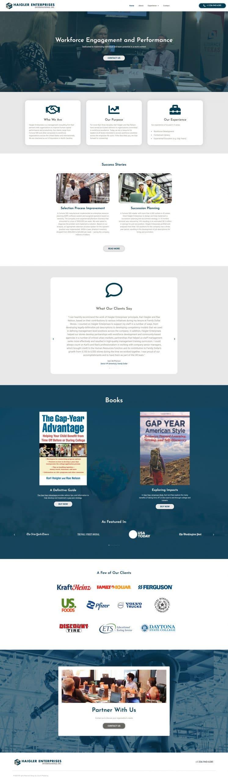 Haigler Enterprises Website