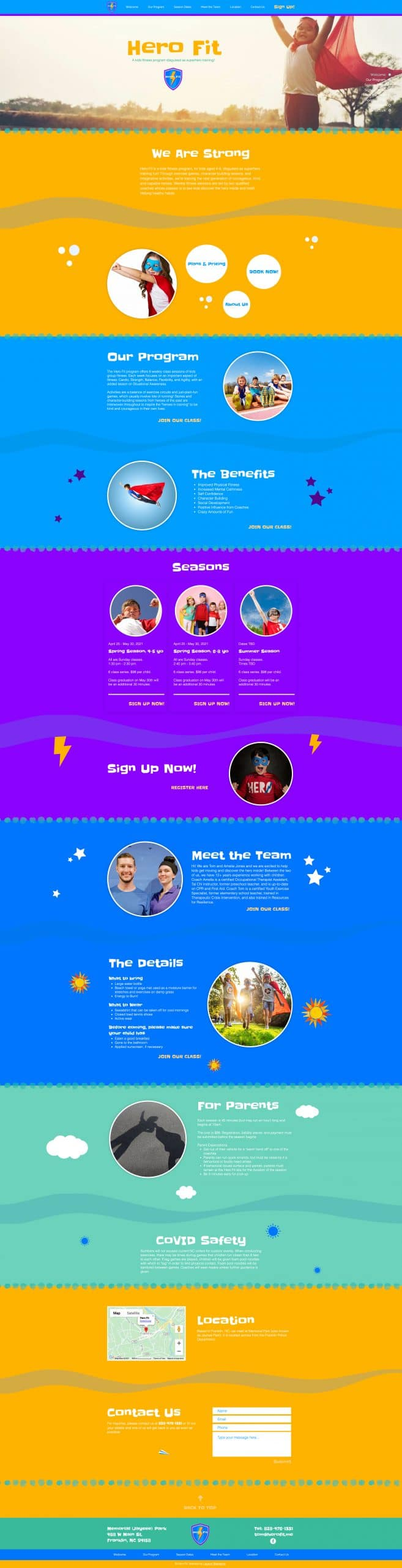 Hero Fit Website
