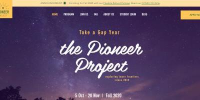 Pioneer Project Website Screenshot
